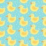 Modèle sans couture avec le canard jaune Photographie stock libre de droits