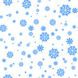 Modèle sans couture avec les flocons de neige et la neige Rétro décoration de papier peint Illustration de Noël d'ornement de vac Images libres de droits