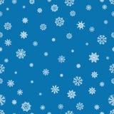 Modèle sans couture avec les flocons de neige et la neige Rétro décoration de papier peint Illustration de Noël d'ornement de vac Photo stock