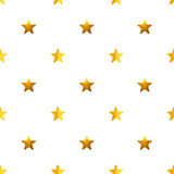 Modèle sans couture avec les étoiles peintes à la main d'or sur le fond blanc Image stock