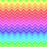 Modèle sans couture coloré par arc-en-ciel de Chevron Images libres de droits