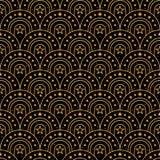 Modèle sans couture d'en demi-cercle de scintillement d'or de porte d'étoile Photographie stock libre de droits