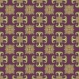 Modèle sans couture d'Ethno Ornement de Boho Éléments décoratifs de cru Copie tribale d'art, fond qu'on peut répéter Usine floral Photos libres de droits