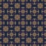 Modèle sans couture d'Ethno Ornement de Boho Éléments décoratifs de cru Copie tribale d'art, fond qu'on peut répéter Usine floral Photo stock