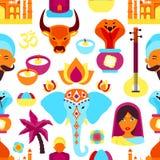 Modèle sans couture d'Inde Photos stock