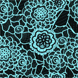 Modèle sans couture de dentelle avec les éléments abstraits Fond floral de vecteur Photo libre de droits