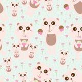 Modèle sans couture de famille en pastel d'ours Images libres de droits