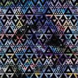 Modèle sans couture de galaxie tribale Images libres de droits