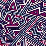 Modèle sans couture de labyrinthe antique avec l'effet grunge Photographie stock libre de droits
