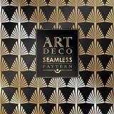 Modèle sans couture de papier peint de vintage d'Art Deco Photos libres de droits