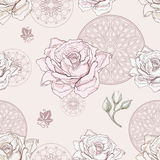 Modèle sans couture de Rose Image stock