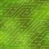 Modèle sans couture de technologie de couleur verte Image stock