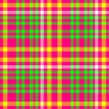 Modèle sans couture de tissu de plaid de tartan de diamant de contrôle de vert de roses indien Photo libre de droits