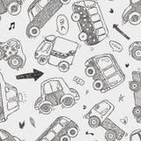 Modèle sans couture de voiture Photo libre de droits
