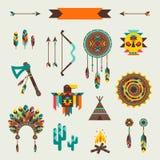 Modèle sans couture ethnique dans le style indigène Images stock