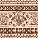 Modèle sans couture ethnique de vintage mexicain tribal Photos stock