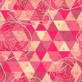 Modèle sans couture géométrique de fleur Image stock