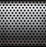Modèle sans couture métallique perforé de vecteur Image stock