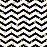 Modèle sans couture noir et blanc de zigzag de Chevron Photo libre de droits