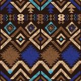 Modèle sans couture tribal tiré par la main Image libre de droits