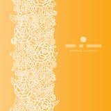 Modèle sans couture vertical de roses d'or de dentelle Images libres de droits