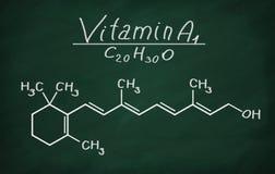 Modèle structurel de la vitamine A1 Photos libres de droits
