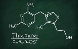 Modèle structurel de thiamine de la vitamine B1 Photos stock