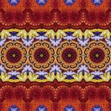 Modèle tribal abstrait sans couture (vecteur) Photographie stock