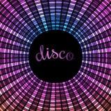 Modèle violet circulaire en expansion de disco Photographie stock