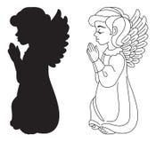 Modlenie anioł royalty ilustracja