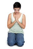 modlenie kobieta Zdjęcia Stock