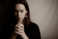 modlenie kobieta Fotografia Stock