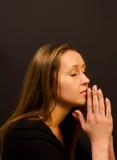modlenie kobieta Zdjęcie Stock