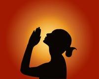 Modlenie kobieta Zdjęcie Royalty Free