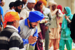 Modlenie sikhijczyk w Amritsar zdjęcie royalty free