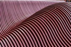 Modèles de vague faits un pas en métal Image libre de droits