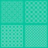 Modèles islamiques traditionnels sans couture abstraits Image libre de droits