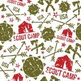 Modèles sans couture de camp de scout Photo stock