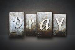 Modli się Letterpress obrazy stock