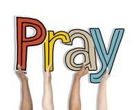 Modli się słów pojęcia Odizolowywających na tle Fotografia Stock