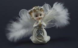 Modlitewna anioł figurka Zdjęcie Stock