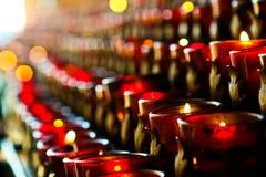 Modlitewne świeczki Fotografia Stock