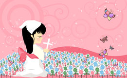 Modlitewny dziecko Royalty Ilustracja