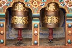 Modlitewny toczy wewnątrz Bhutan Obrazy Stock