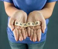 Modlitwa Literująca w płytkach zdjęcia royalty free