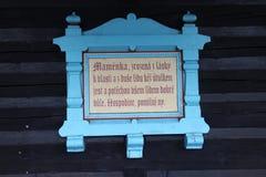 Modlitwa na szaletu MamÄ› nka, Pustevny w Beskydy górach obrazy stock