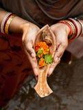 Modlitwa rzeczna bogini zdjęcia royalty free
