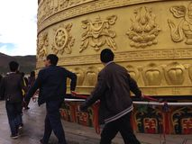 modlitwa tybetańskiej koła Obraz Royalty Free