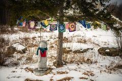 Modlitwa Zaznacza Upstate stan nowy jork - Grafton pokoju pagoda - Obrazy Stock