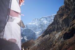 Modlitwa zaznacza w himalaje górach, Annapurna region, Nepal obrazy stock